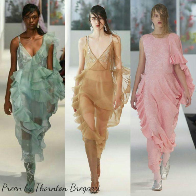 Прозрачные ткани, мода на прозрачное весна лето 2018