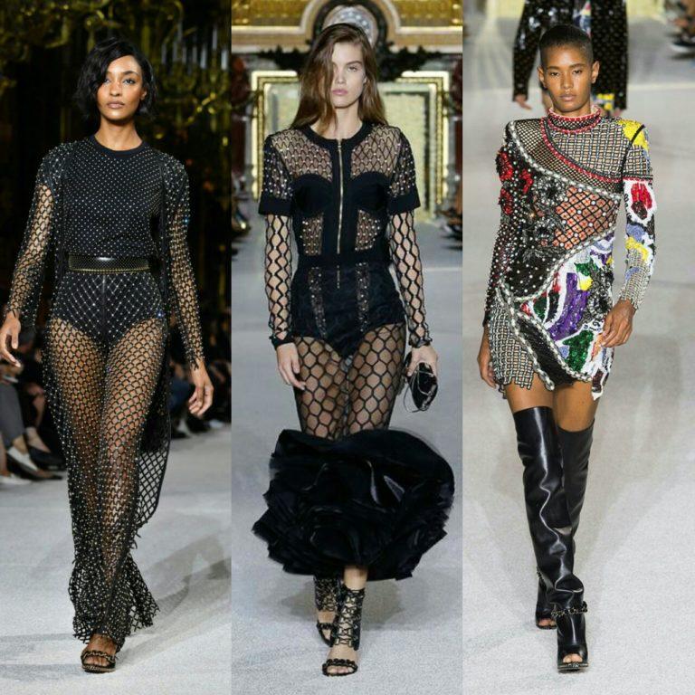 Мода на одежду с сеткой