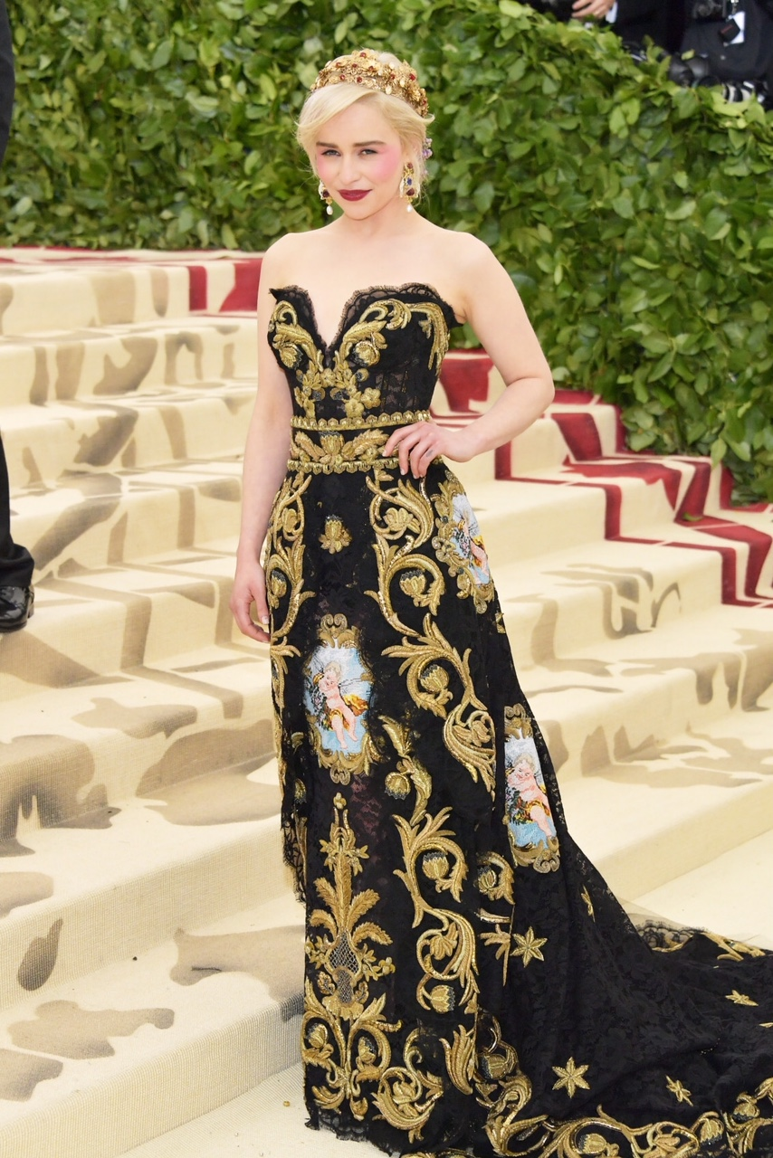 Emilia Clarke Costume Institute Gala at The Metropolitan Museum