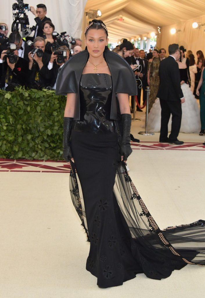 Bella Hadid at Costume Institute Gala at The Metropolitan Museum of Art