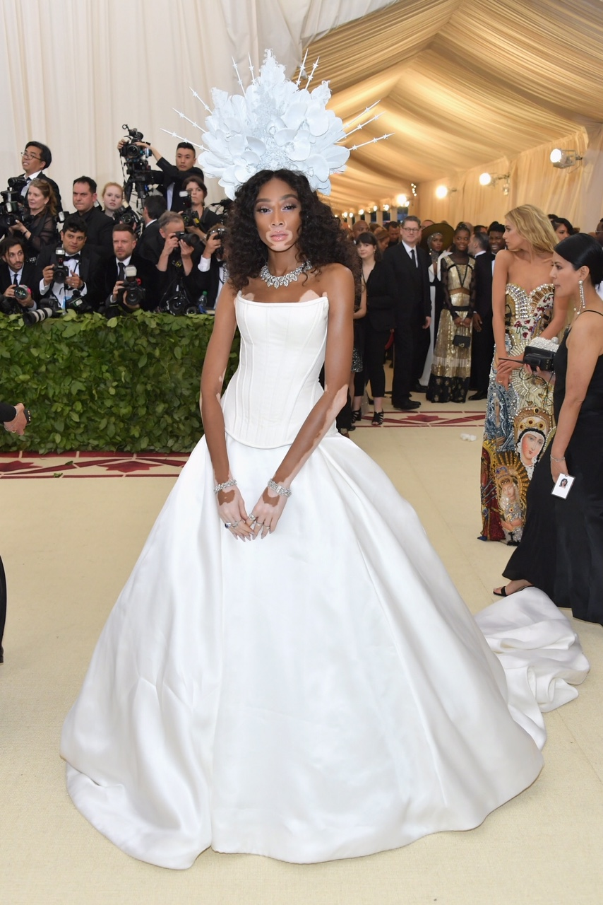 Winnie Harlow at The Metropolitan Museum of Art on May 7