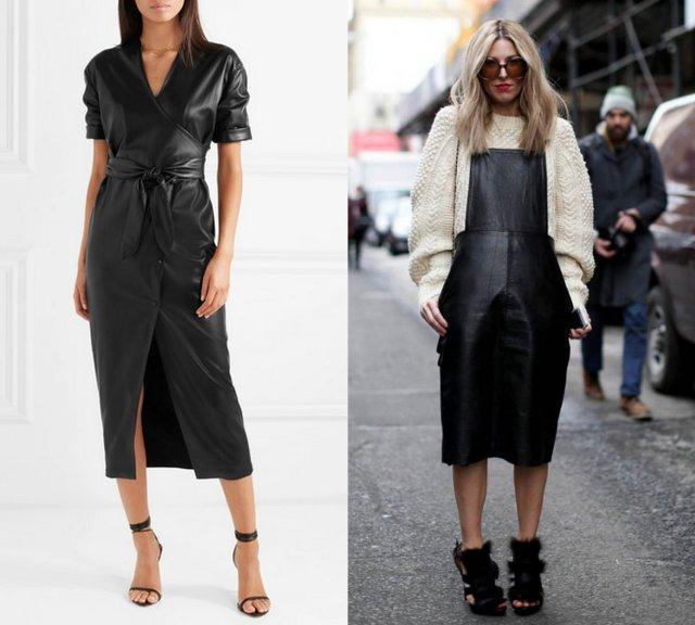как носить кожаные платья