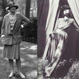 Костюм из джерси и брюки-палаццо Шанель
