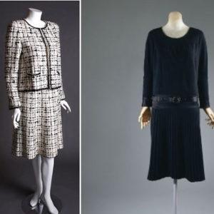 Твидовый костюм и маленькое черное платье Шанель